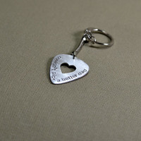 dad sterling silver guitar pick keychain