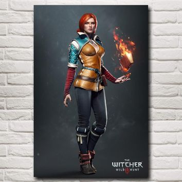FOOCAME The Witcher 3 Wild Hunt Triss Merigold Game Art Silk Poster Prints Home Wall Decor Painting 12x18 20x30 24x36 32x48 Inch