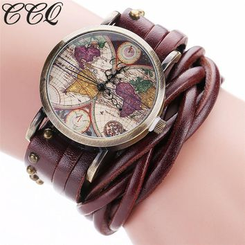 Rivet Braided Leather Watch