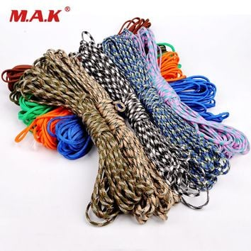 Sale 25FT(8m) 550 Paracord Parachute Cord Lanyard Mil Spec Type III 7 Strand Core Mil Spec Climbing Camping Survival Equipment