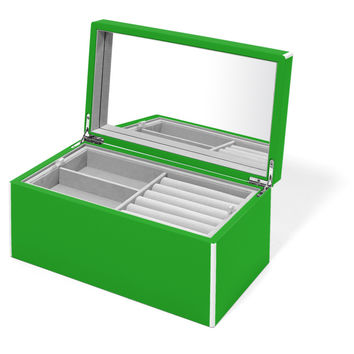 Elle Lacquer Jewelry Box Green