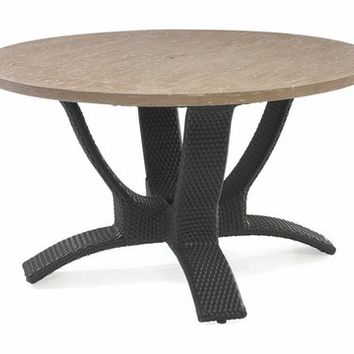 Spinnaker Outdoor Wicker Conversation Cocktail Table