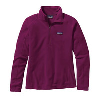 Patagonia Women's Micro D Quarter Zip Fleece- Violet