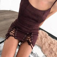 Awesome Spaghetti Strap One Piece Dress 4 Colors S-L [11923358223]