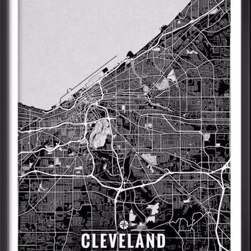 Cleveland Ohio Map with Coordinates