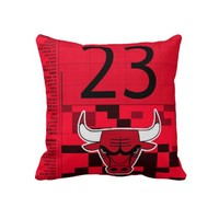 chicago bulls michael jordan 23 number pillow