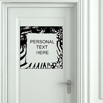 Wall Mural Vinyl Decal Sticker Sign Door Frame Personalized Text Name AL291