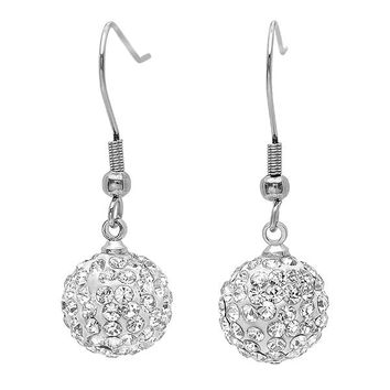 Crystal Disco Ball Dangle Earrings