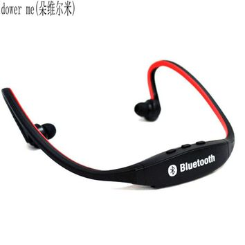 dower me USB 2.0 Mini Sport Headset Music MP3 Player Support 16GB  Micro  SD  TF microphone for lPhone Bluetooth headset xiaomi