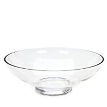 "Hosley's Clear Glass Bowl , 11.8"" Diameter: Ideal Gift for Wedding or Special Occasion; for Decorative Balls/ Orbs, DIY Projects, Terrariums and More. O4"