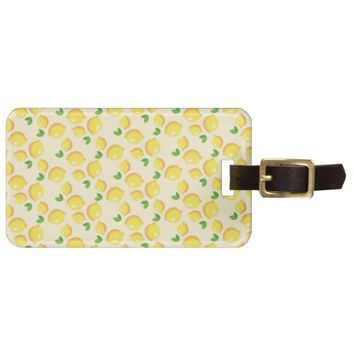 Lemon Pattern Luggage Tag