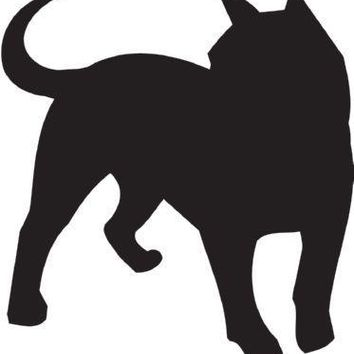 Telomian Silhouette Dog Puppy Breed Long Die Cut Vinyl Transfer Decal Sticker