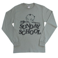SUNDAY SCHOOL LONG SLEEVE (TAN)