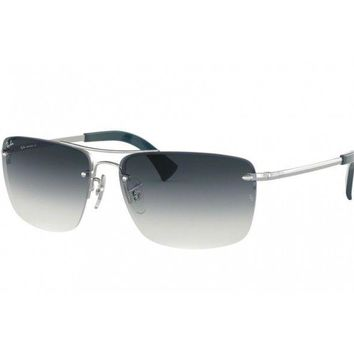 sunglasses Ray Ban RB3607 silver blue light faded 91290S