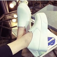 Spring Summer Style women platform shoes woman flats loafers canvas espadrilles slip on Ladies Creepers thick sole ev