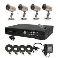 CIB 4CH J960H04N1000G7652 960H HDMI 1080P Output 120FPS Real Time Network Security Surveillance DVR 1000GB HDD Four EFFIO CCD 800TVL Bullet Cameras KIT