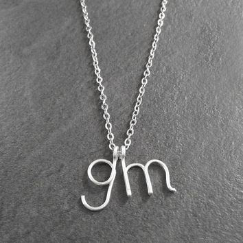 Two Initial Necklace - Mom Jewelry, Personalized Jewelry with Monogram, Customized Necklace