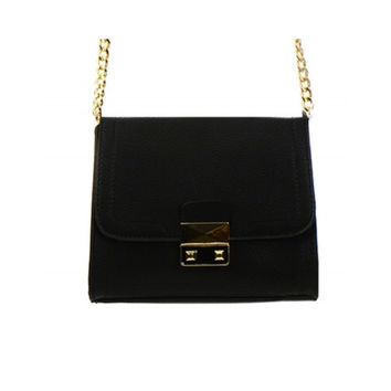Women's Handbag Black Leather Accents