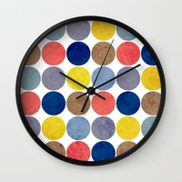 Round and Round Wall Clock by Miss L In Art