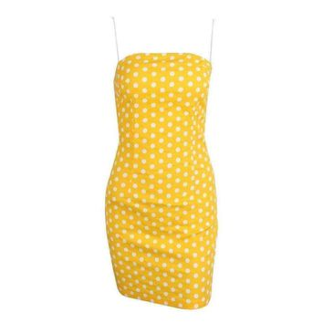 Canary Polka Dot Tube Dress