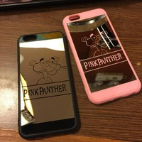 Lovers Couple Pink Plating Mirror Case for iphone 6 6s plus 5s SE 7 7plus Phone Cases Soft Silicone Frame Phone Back Cover Capa