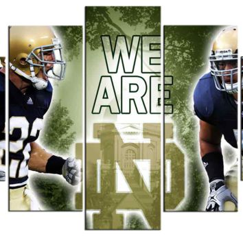 Notre Dame Wall Art on Canvas picture college footbal