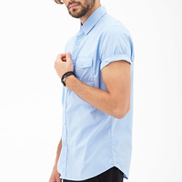 Short-Sleeved Collared Shirt
