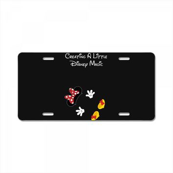 Creating A Little Disney Magic Minnie Mouse License Plate