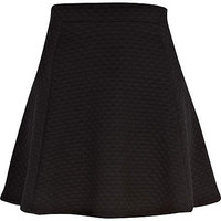 Black bubble skater skirt
