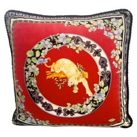 Pre-owned Versace Atelier Velvet Accent Pillow