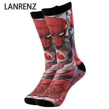 Deadpool Dead pool Taco NEW villain hero  Corps Men and women fashion Funny socks 3d printed socks 200 knitting oil painting compression socks AT_70_6