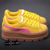 PUMA Fenty Creeper Women Casual Running Sport Shoes Sneakers Roses Yellow G-A-YYMY-XY