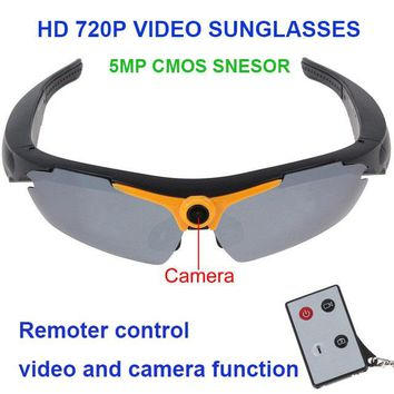 Smart Glasses Sunglasses 170 degree w/ 720P 5MP Camera Video  &  Remote Controller