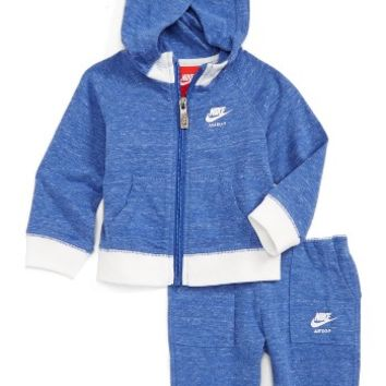 Nike Vintage Gym Zip Hoodie & Sweatpants Set (Baby Girls) | Nordstrom