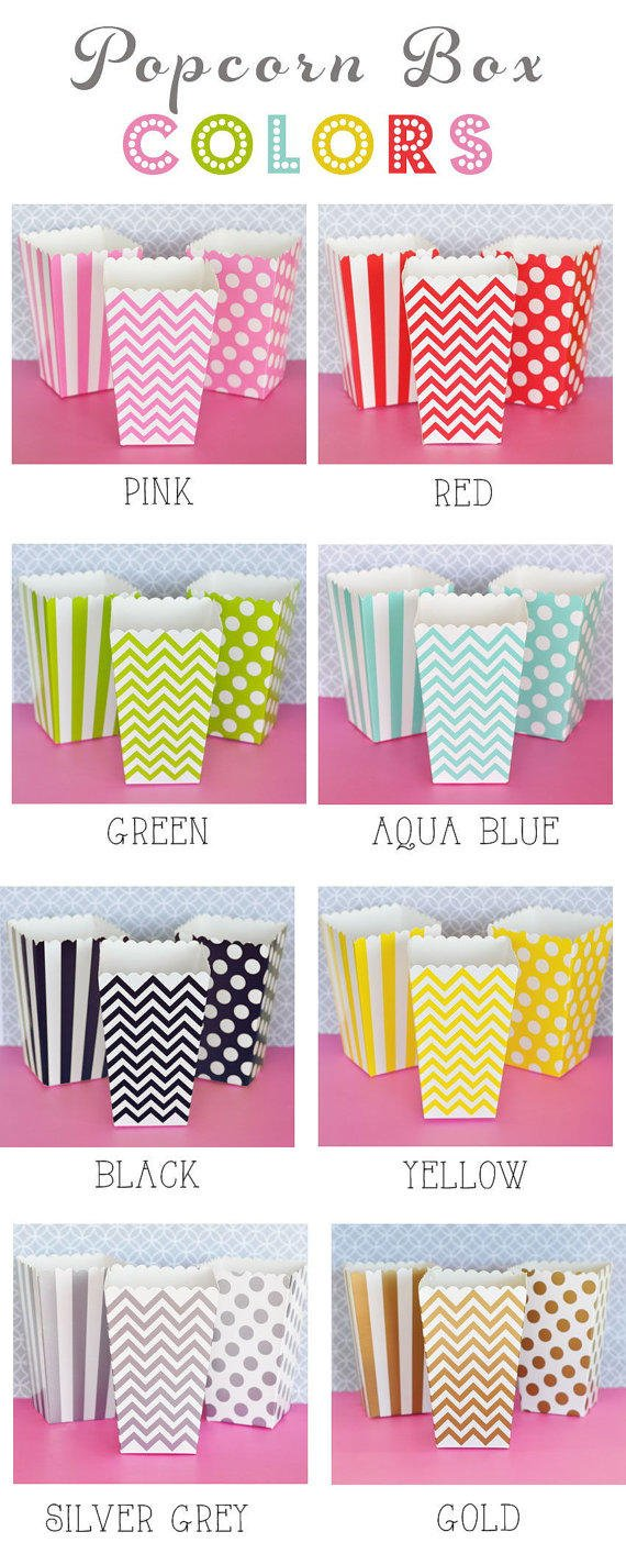Popcorn Boxes - Stripe Polka Dot or from Tea and Becky | Favor