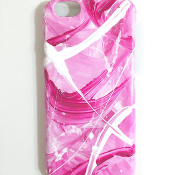 iPhone 6 Painted Abstract Pink cellphone case hard plastic
