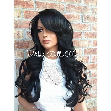 Charlotte Multi Parting Human Hair Blend Lace Front Wig