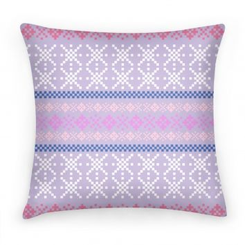 Sweater Print Pillow Purple