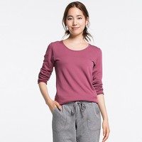 WOMEN HEATTECH ULTRA WARM CREWNECK T-SHIRT