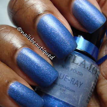 Blue-Ray Matte DuoChrome Nail Polish from Party Time Collection