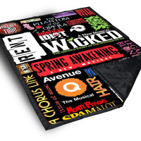 Broadway Musical Collage custom Blanket