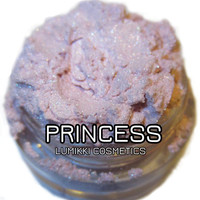 Princess SAMPLE SIZE Mini Jar Light Pastel Pink Glitter Shimmer Sweet Bubblegum Fairy Mineral Eyeshadow Mica Pigment Lumikki Cosmetics