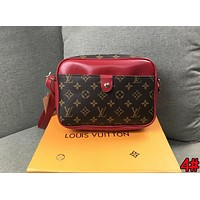 Louis Vuitton LV New Fashionable Women Shopping Leather Crossbody Satchel Shoulder Bag