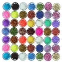 45PC nail art glitter powder dust tips decoration