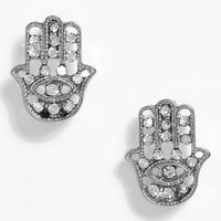 Women's Topshop Hamsa Hand Stud Earrings