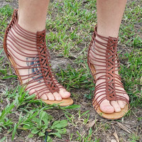 An Everyday Strappy Sandal in Tan