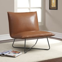 Saddle Brown Pillow Lounge Chair | Overstock.com Shopping - The Best Deals on Living Room Chairs