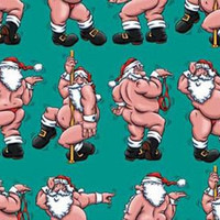 Santa The Stripper Wrapping Paper