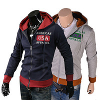 """American USA Apparel"" Zip-Up Hoodie"