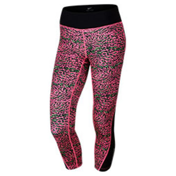 Women's Nike Racer Leopard Printed Crop Training Tights | Finish Line